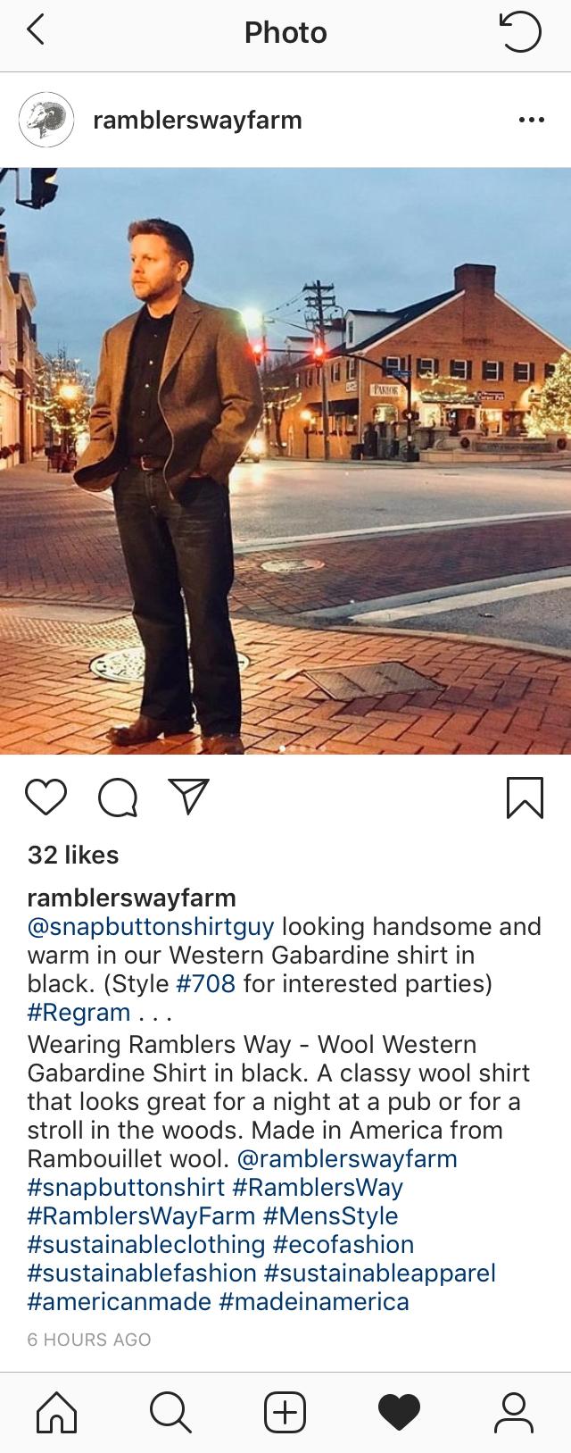 Ramblers Way Instagram post
