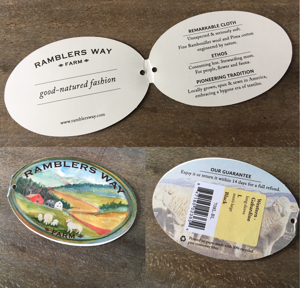 Ramblers Way Farm shirt tag