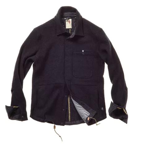 Relwen Wool Snap Shirt Jacket