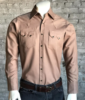 Rockmount Ranch Wear Wool Western Shirt in Camel