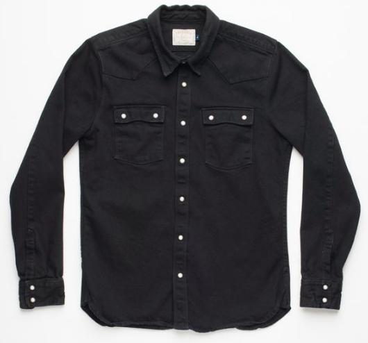 Snap Button Shirt of the Day: Freenote Cloth - Modern Western Black Denim