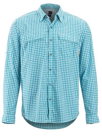 Fly Fishing Snap Button Shirt: Exofficio Bugsaway Halo Check Long Sleeve Shirt