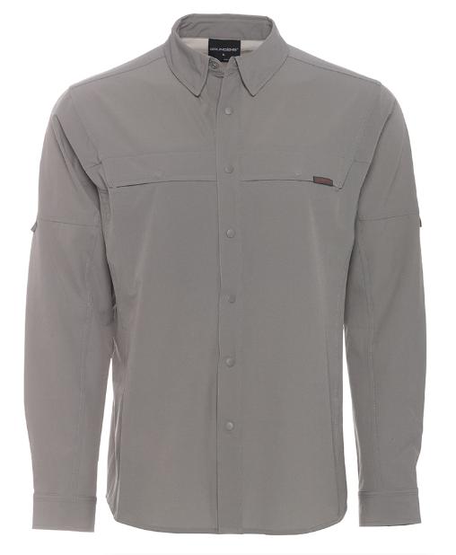 Fly Fishing Snap Button Shirt: Grundens Leader Long Sleeve Shirt
