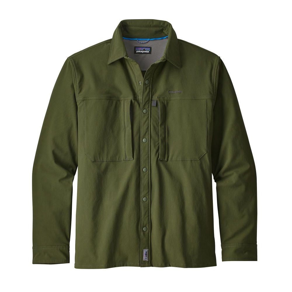 Fly Fishing Snap Button Shirt: Patagonia Long-Sleeved Snap Dry Shirt