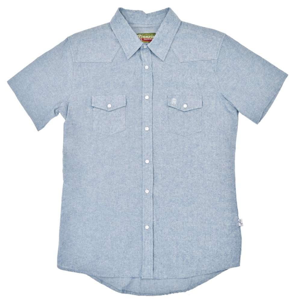 Fly Fishing Snap Button Shirt: TX Fly Co. - Concho Pearl Snap