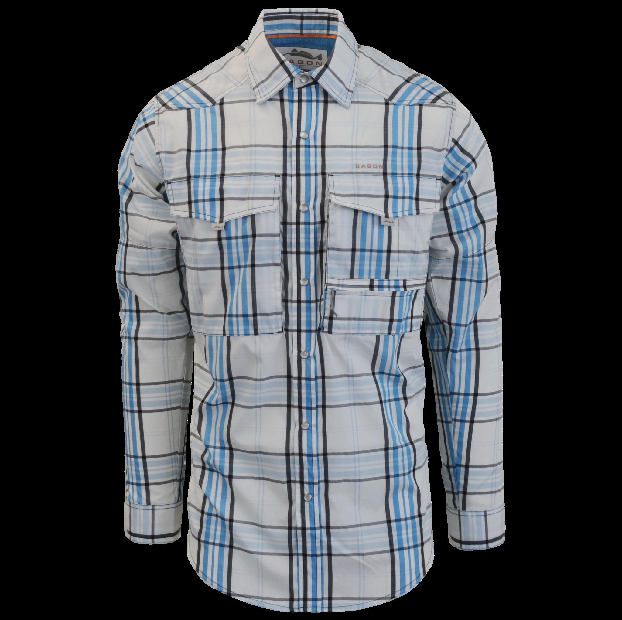 Fly Fishing Snap Button Shirt: Dagon Western