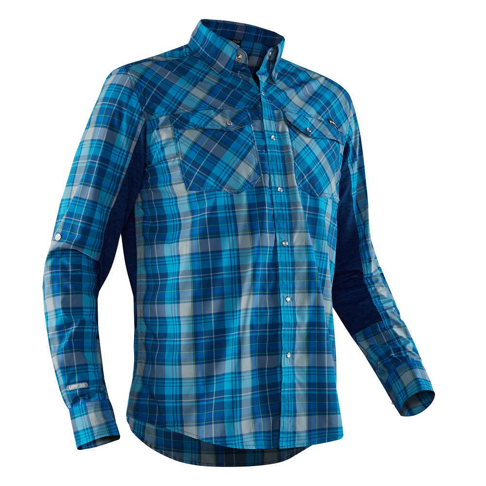 Fly Fishing Snap Button Shirt: NRS Long Sleeve Guide Shirt