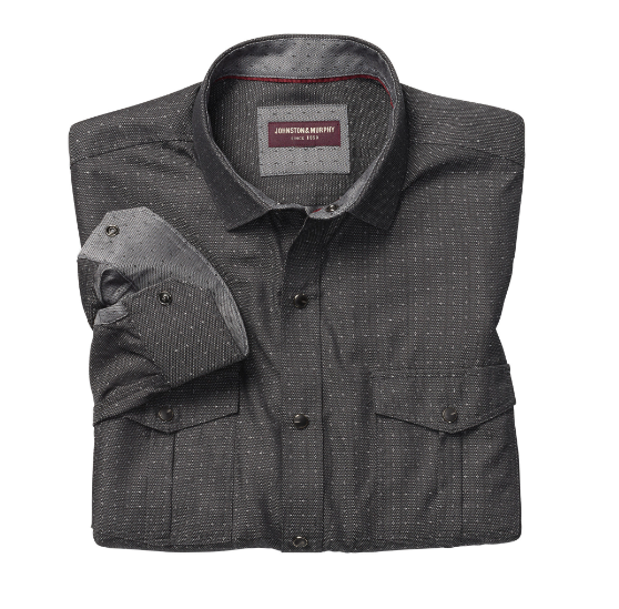 Snap Button Shirt of the Day: Johnston & Murphy - Dot Star Snap-Front Shirt