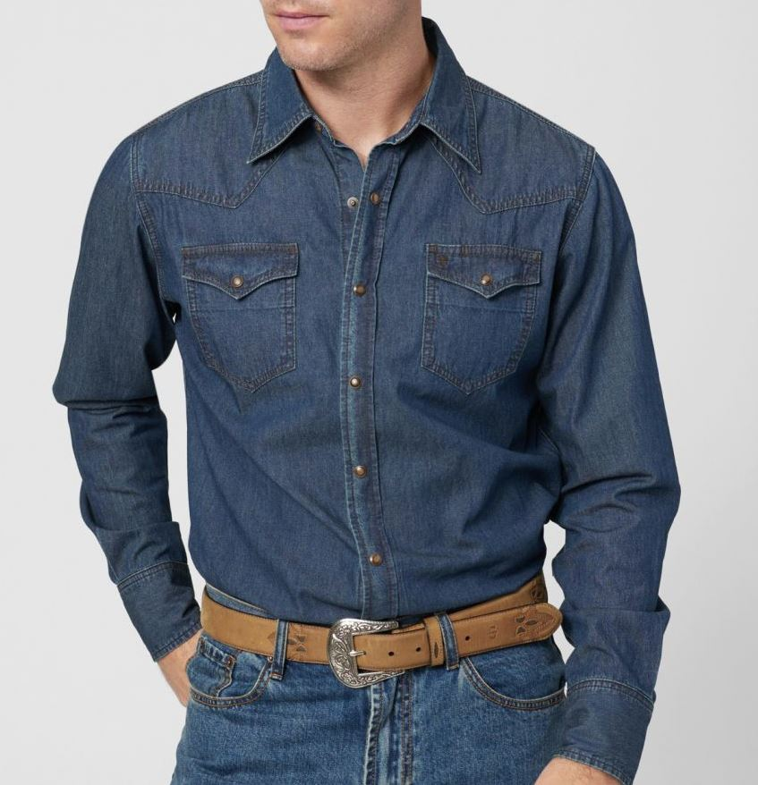 Snap Button Shirt of the Day: Stetson - Classic Denim Western Shirt