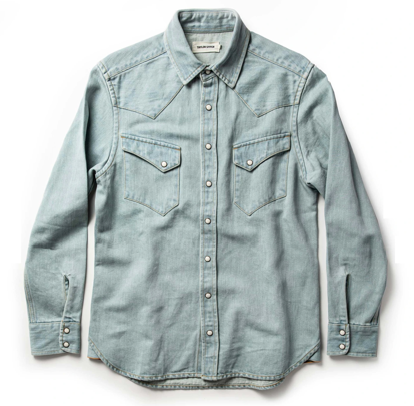 Snap Button Shirt of the Day: Taylor Stitch – The Western Shirt in Washed  Denim – Snap Button Shirt Guy