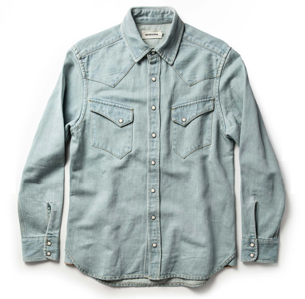 Snap Button Shirt of the Day: Taylor Stitch - The Western Shirt is Washed Denim