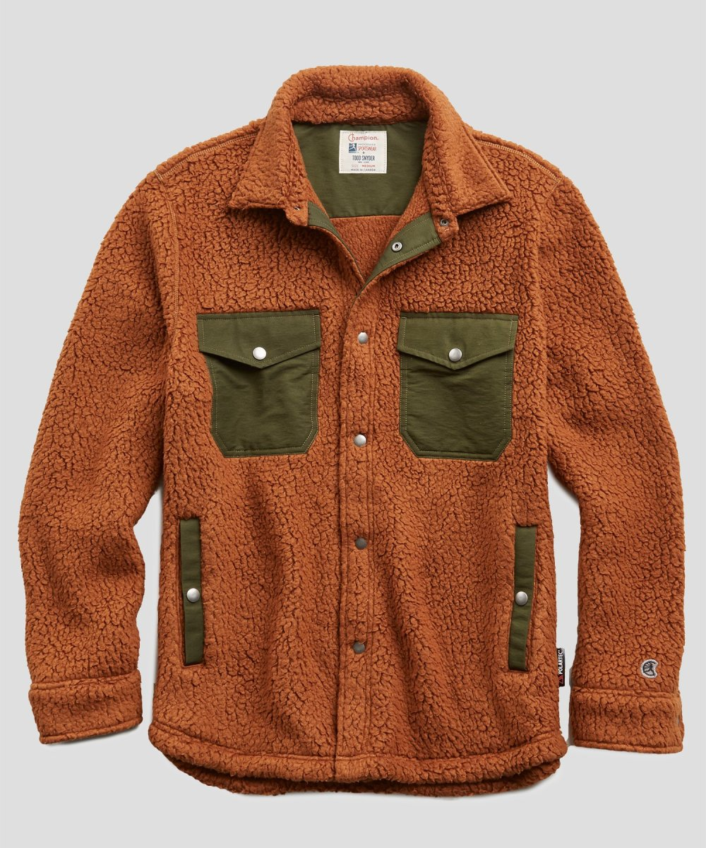Snap Button Shirt of the Day: Todd Snyder + Champion - Polartec Shirt Jacket