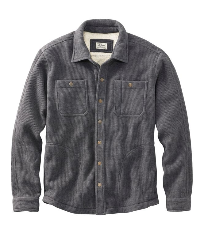 Snap Button Shirt of the Day: LL Bean - Katahdin Iron Works Bonded Waffle Fleece Shirt Jac