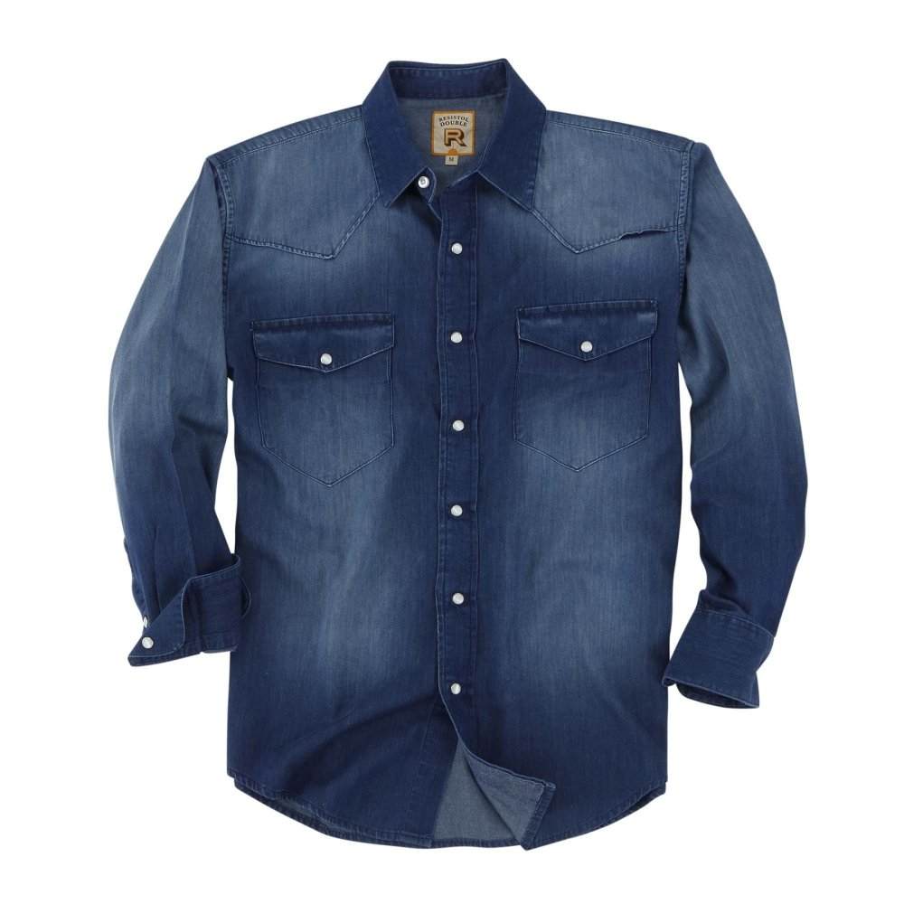 Snap Button Shirt of the Day: Resistol - Rawlins in Dark Denim