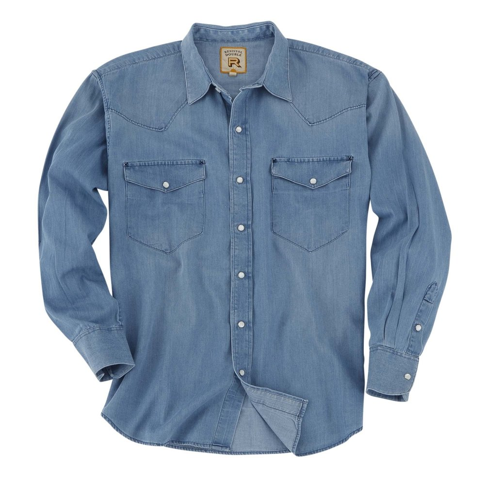 Snap Button Shirt of the Day: Resistol - Rawlins in Light Denim