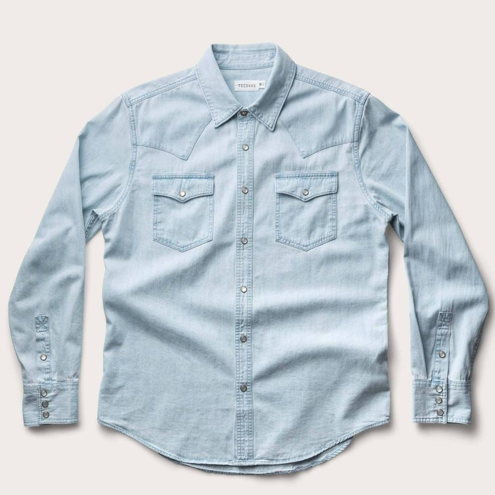 Snap Button Shirt of the Day: Tecovas Denim Pearl Snap