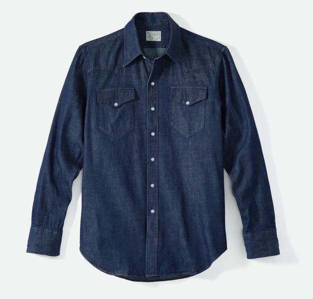 Snap Button Shirt of the Day: Wythe New York - Indigo Denim Pearl Snap Shirt