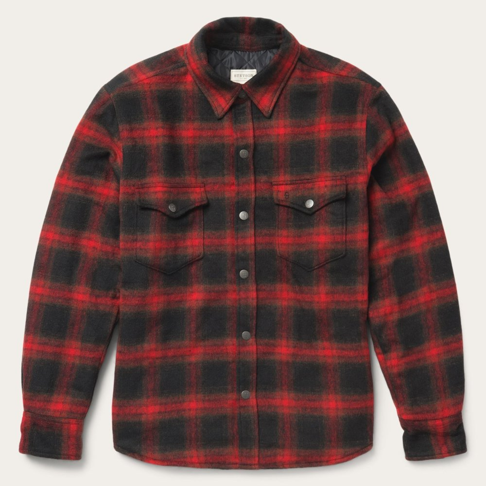 Snap Button Shirt of the Day: Stetson - Quilted Wool Shirt Jacket